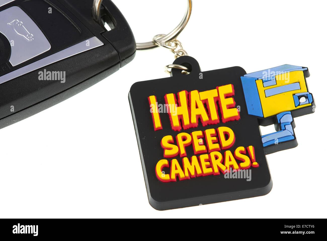 I Hate Speed Cameras Key Fob - Stock Image