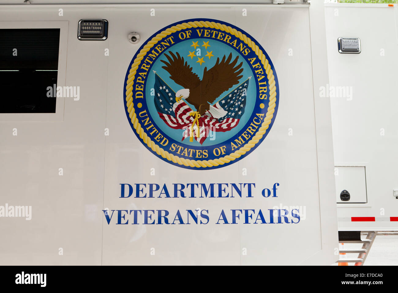 US Department of Veterans Affairs seal - USA - Stock Image