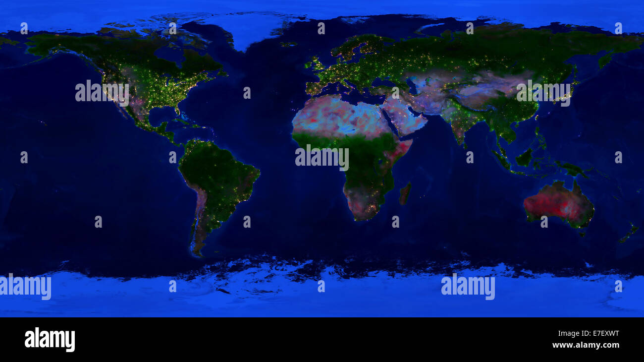 Extra large size physical world map night view of the earth with extra large size physical world map night view of the earth with glowing lights of cities gumiabroncs Choice Image