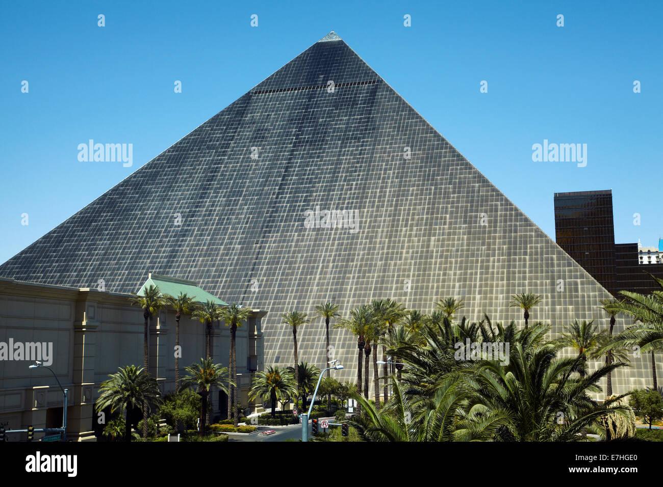 Pyramid At Luxor Hotel And Casino Las Vegas Nevada Usa Stock