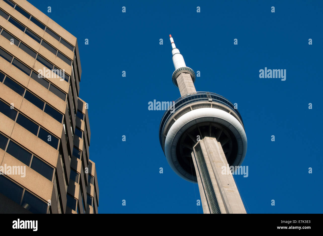 CN tower downtown Toronto Canada - Stock Image
