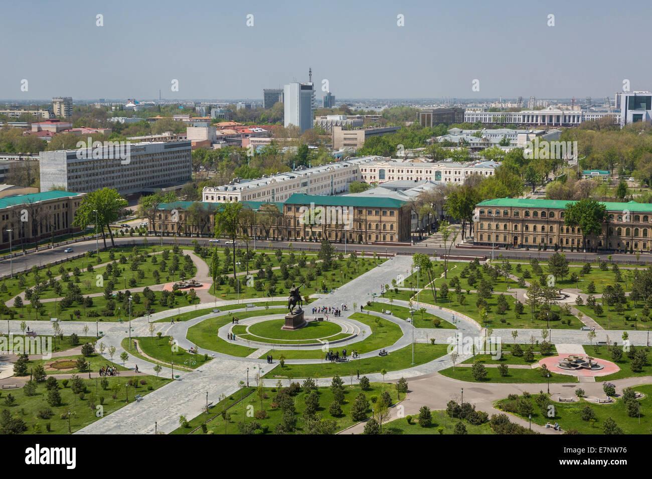 Amir Timur, Russian, Tashkent, Timur, Uzbekistan, Central Asia, Asia, architecture, center, city, colourful, downtown, - Stock Image