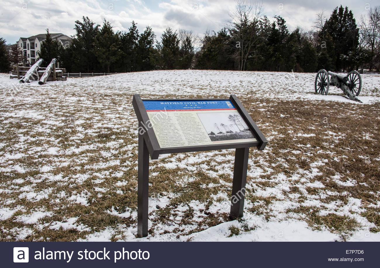 Battlefield of civil war fort Manassas Virginia. USA ©William Stevens - Stock Image