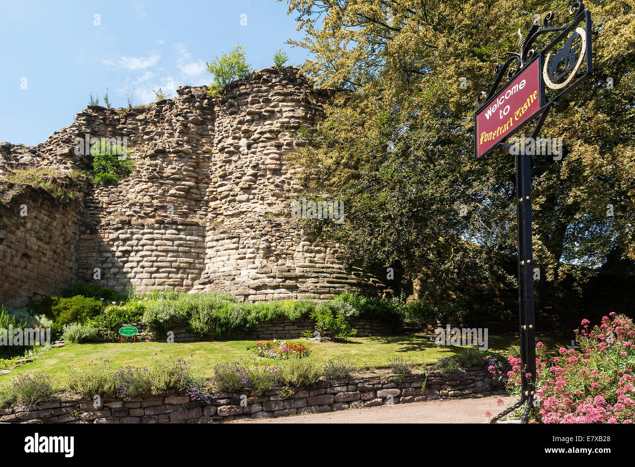 England Yorkshire, Pontefract castle Stock Photo