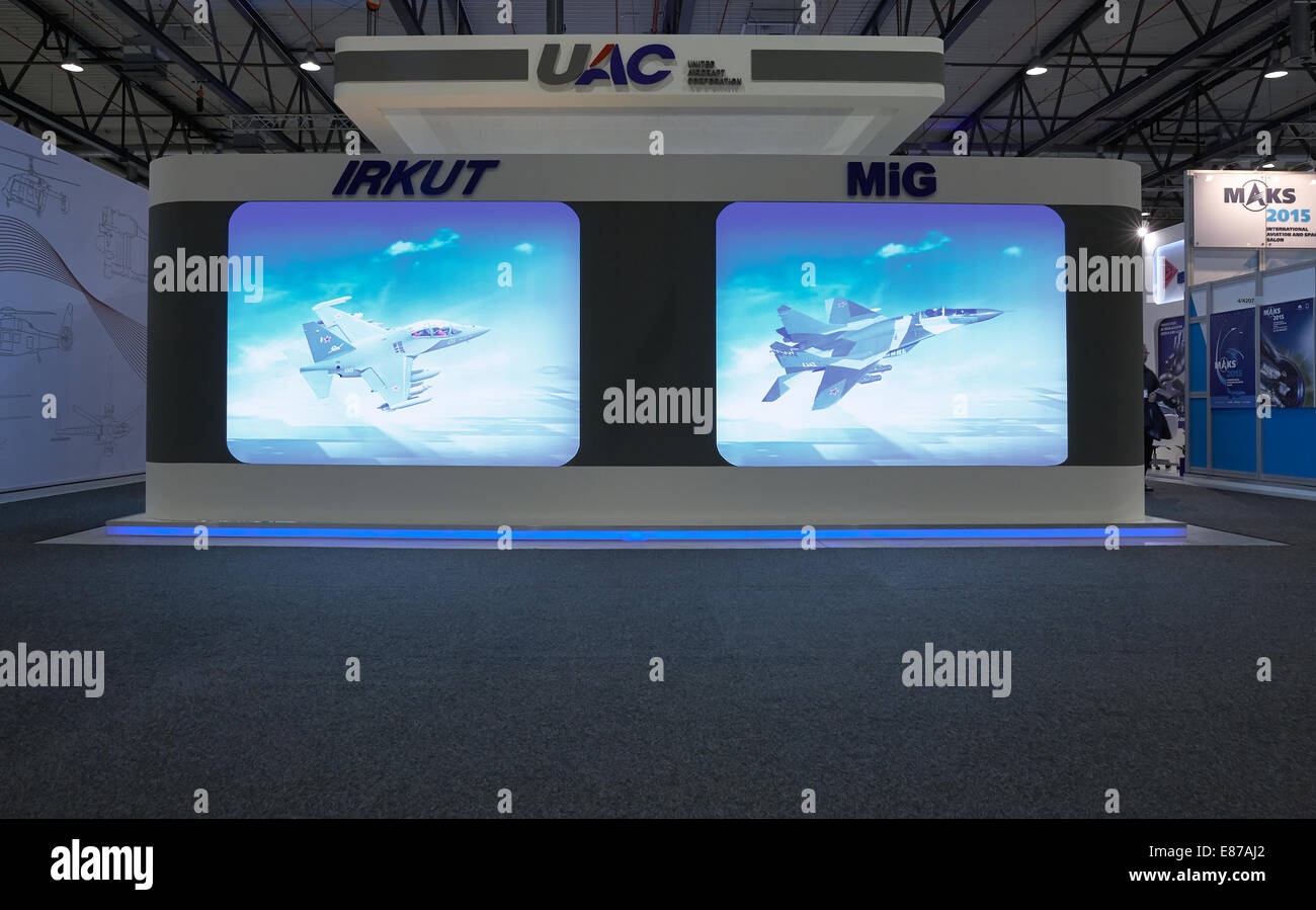 Schoenefeld, Germany, booth of the UAC at the ILA 2014 - Stock Image