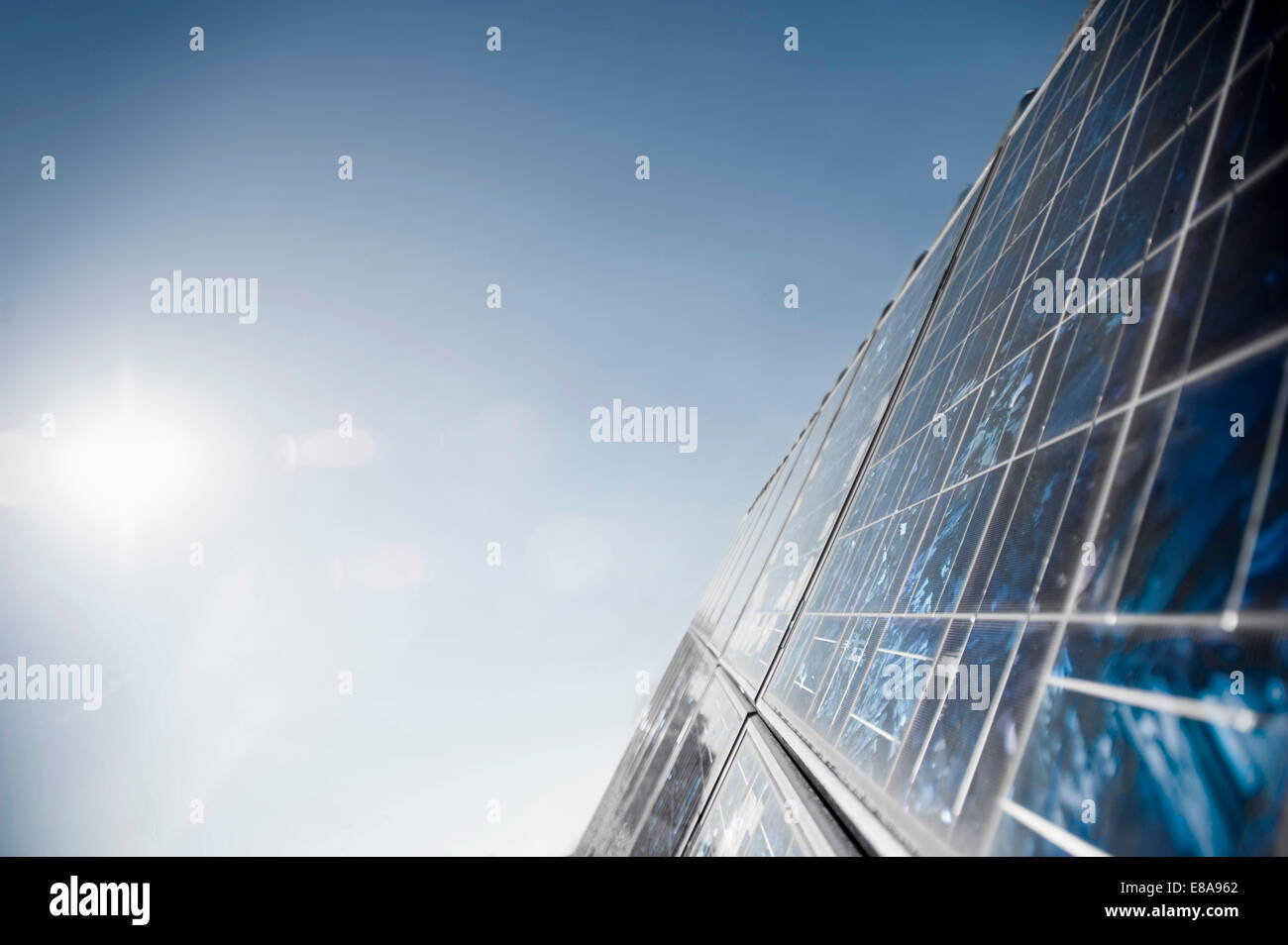 Solar panels, Bavaria, Germany - Stock Image