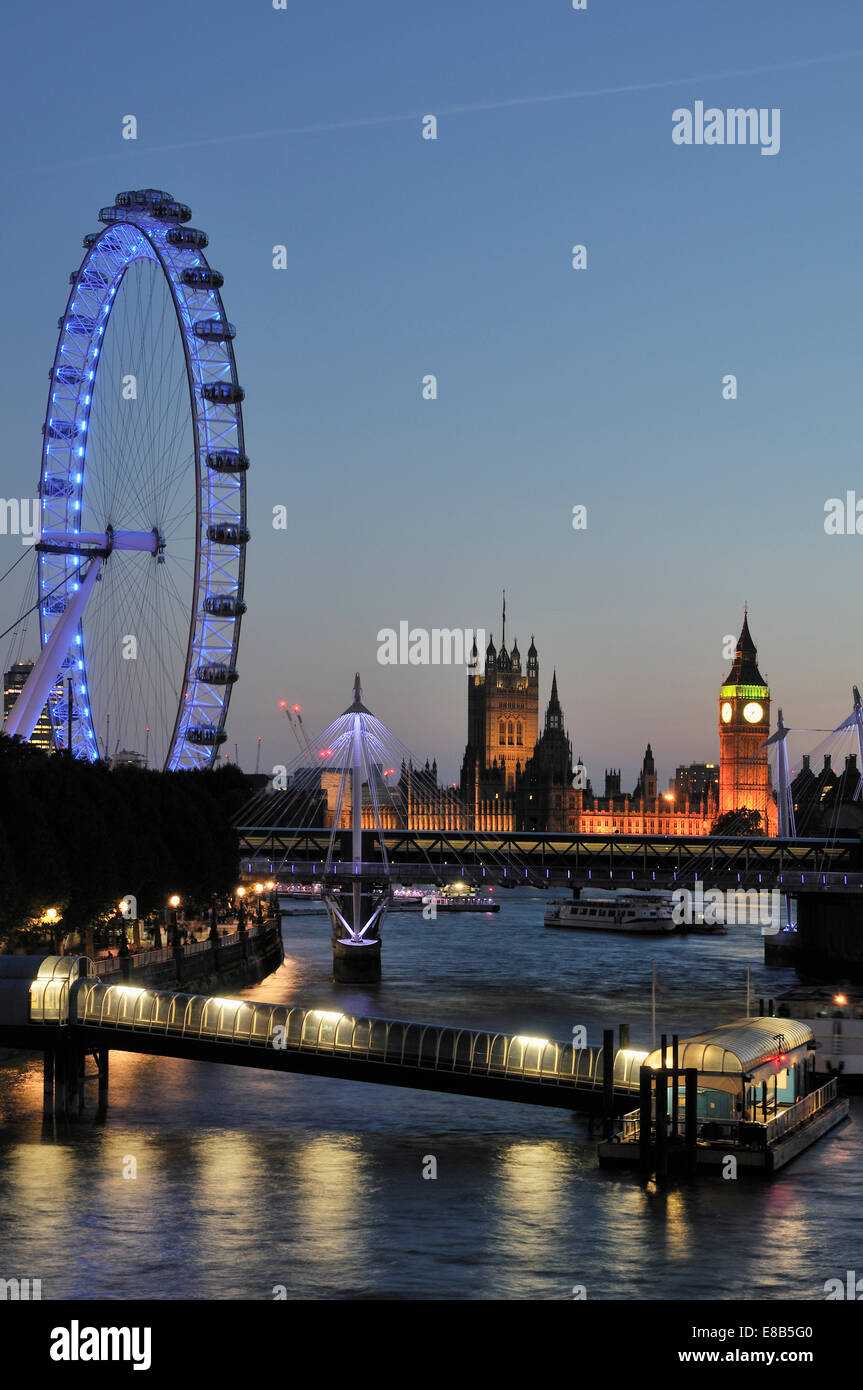 London Skyline in the early evening - Stock Image