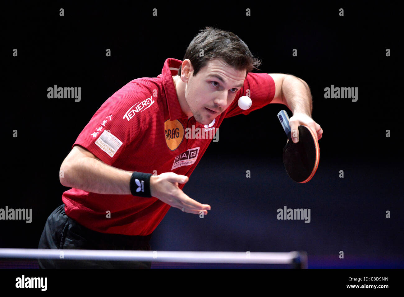 Timo Boll, GER, Table Tennis Cup final, Porsche Arena, Stuttgart, Baden-Württemberg, Germany - Stock Image