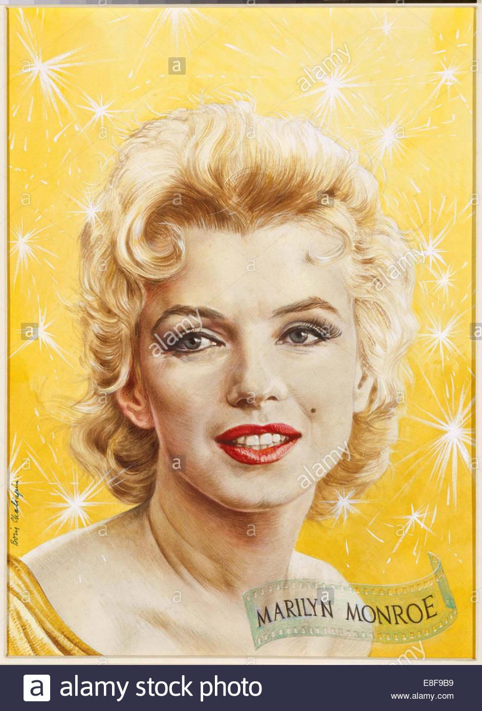 Marilyn Monroe. TIME Magazine Cover. Artist: Chaliapin (Shalyapin), Boris Fyodorovich (1904-1979) - Stock Image