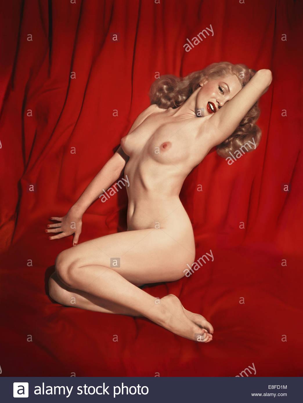 Marilyn Monroe. Artist: Kelley, Tom, Sr. (1914-1984) - Stock Image