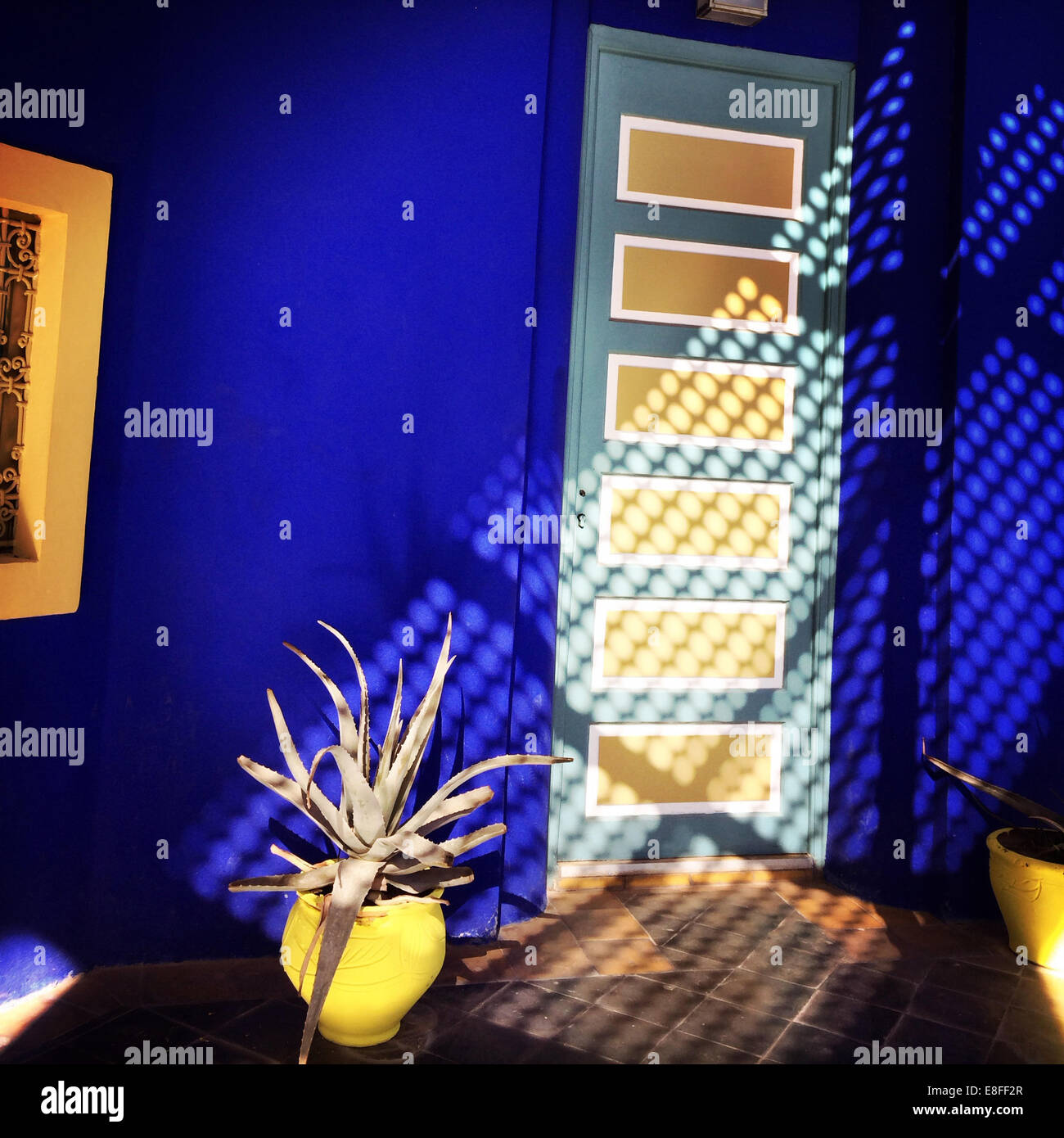 Morocco, Marrakesh, Part of Jardin Majorelle - Stock Image