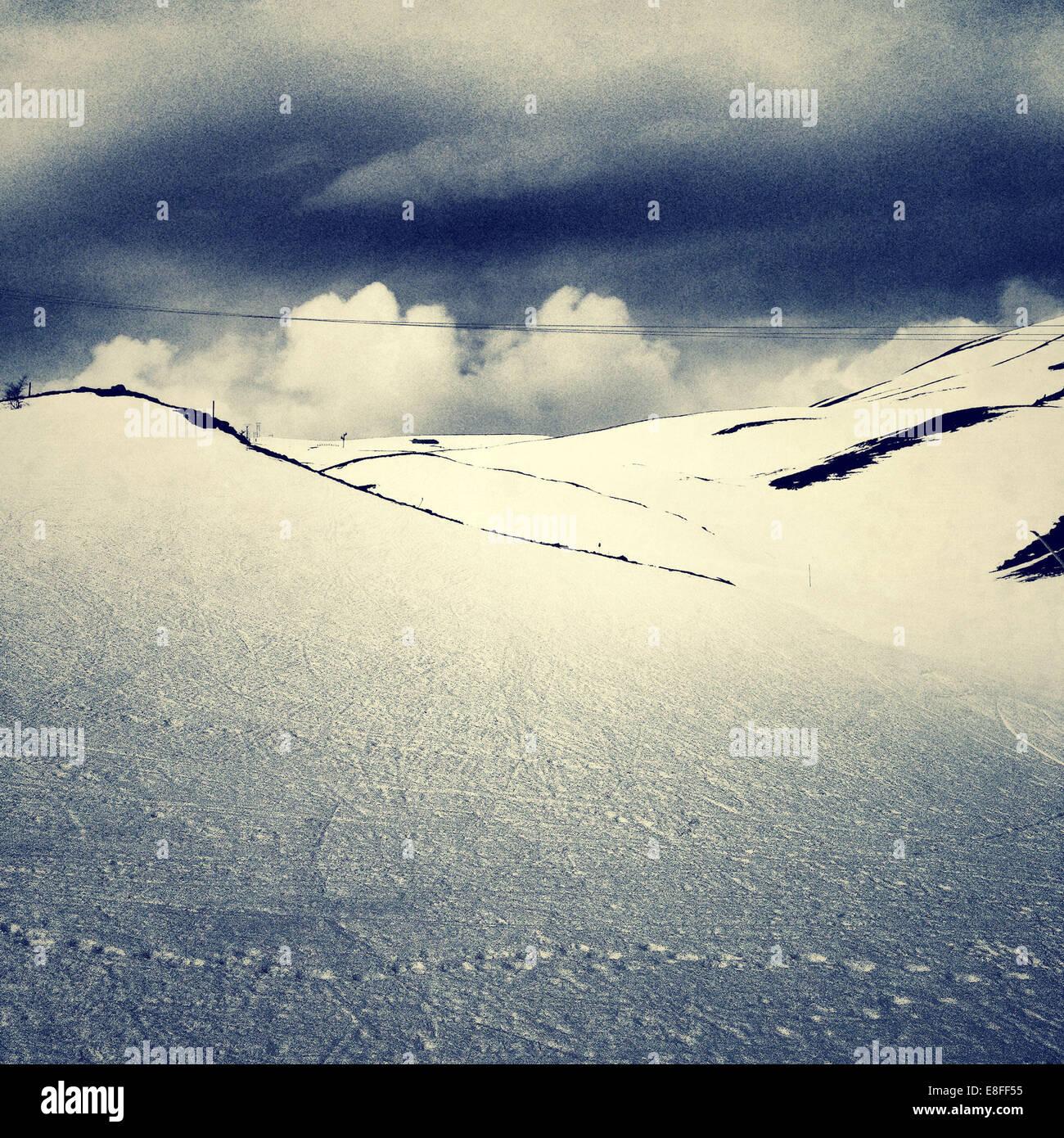 Empty ski slope - Stock Image