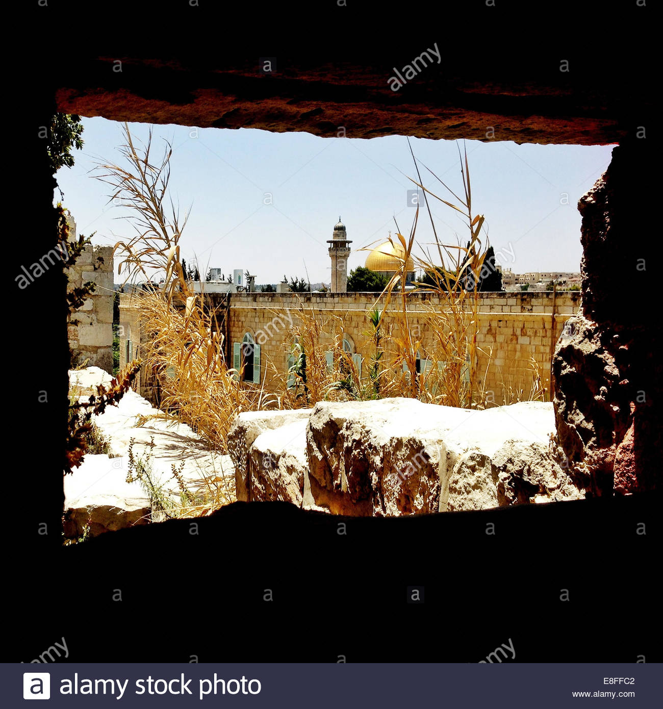 Israel, Jerusalem, Dome of the Rock in winter - Stock Image