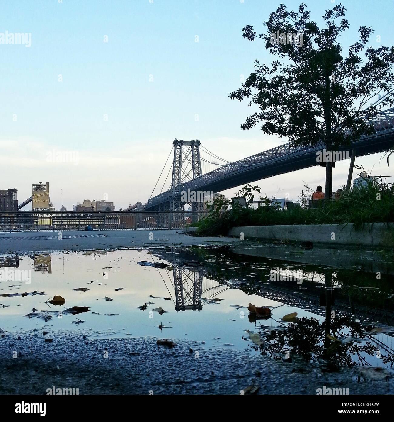 USA, New York State, New York City, Williamsburg Bridge - Stock Image