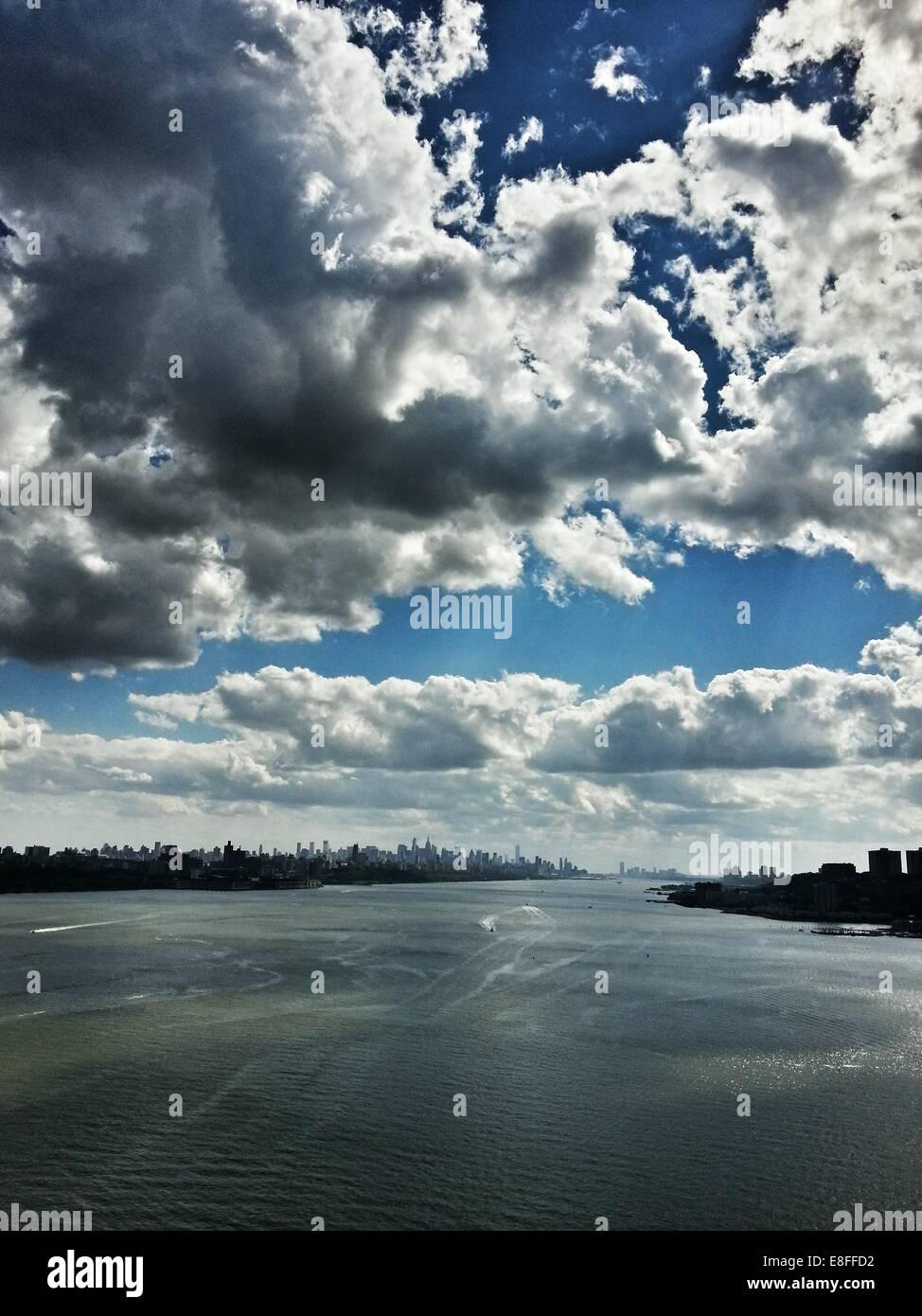 USA, New York State, New York City, Hudson River - Stock Image