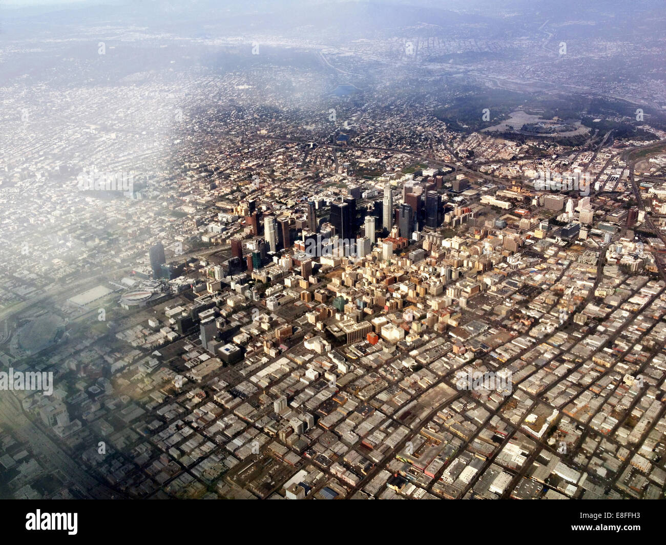 Aerial view of Los Angeles, California, America, USA - Stock Image