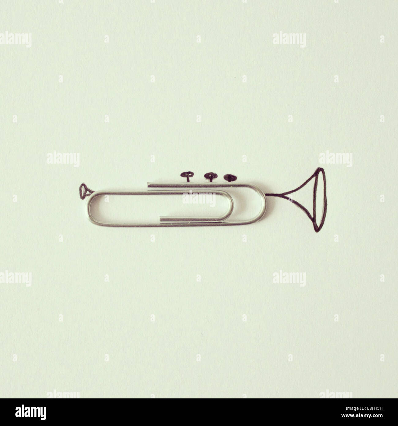 Conceptual trumpet - Stock Image
