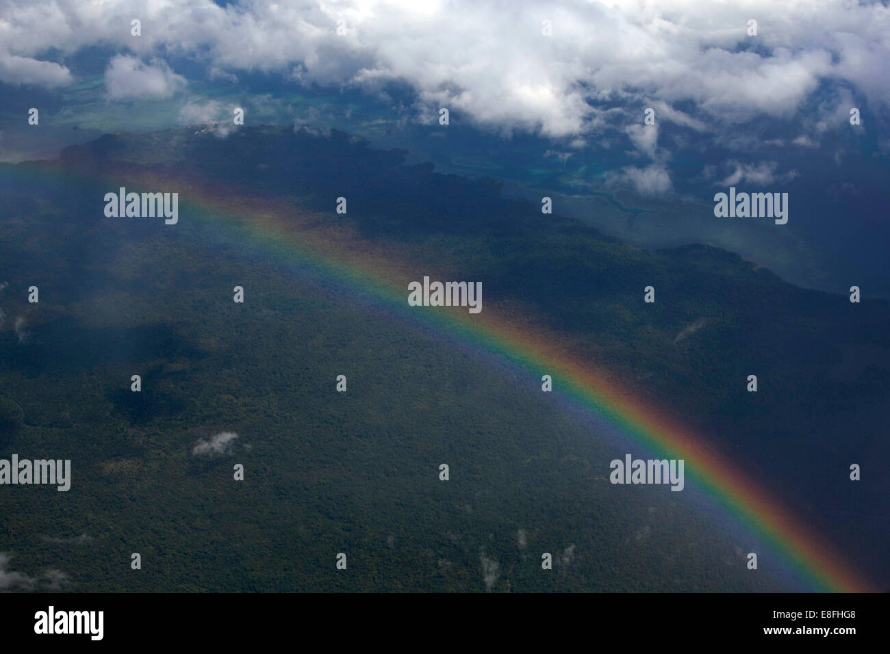 Indonesia West Papua, Indonesia, Rainbow - Stock Image