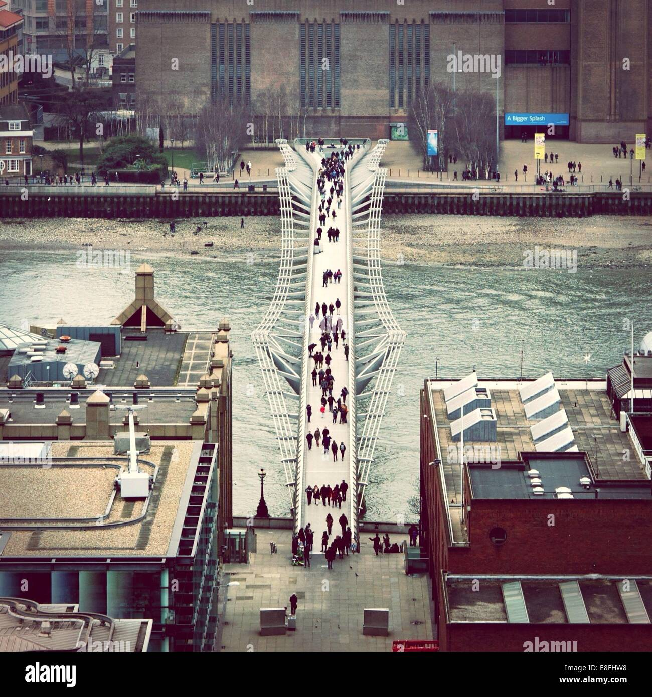 United Kingdom, London, Greater London, Millennium Bridge - Stock Image