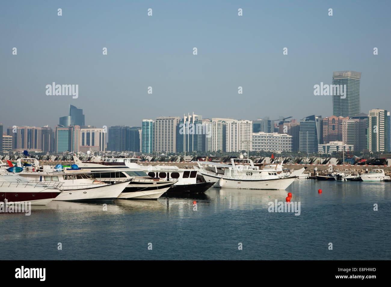 United Arab Emirates, Abu Dhabi, Skyline - Stock Image