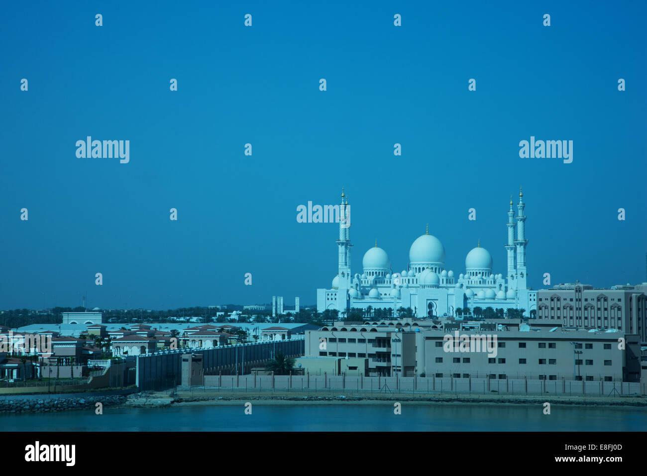United Arab Emirates, Abu Dhab, Al Hosn, Sheikh Zayed Mosque - Stock Image