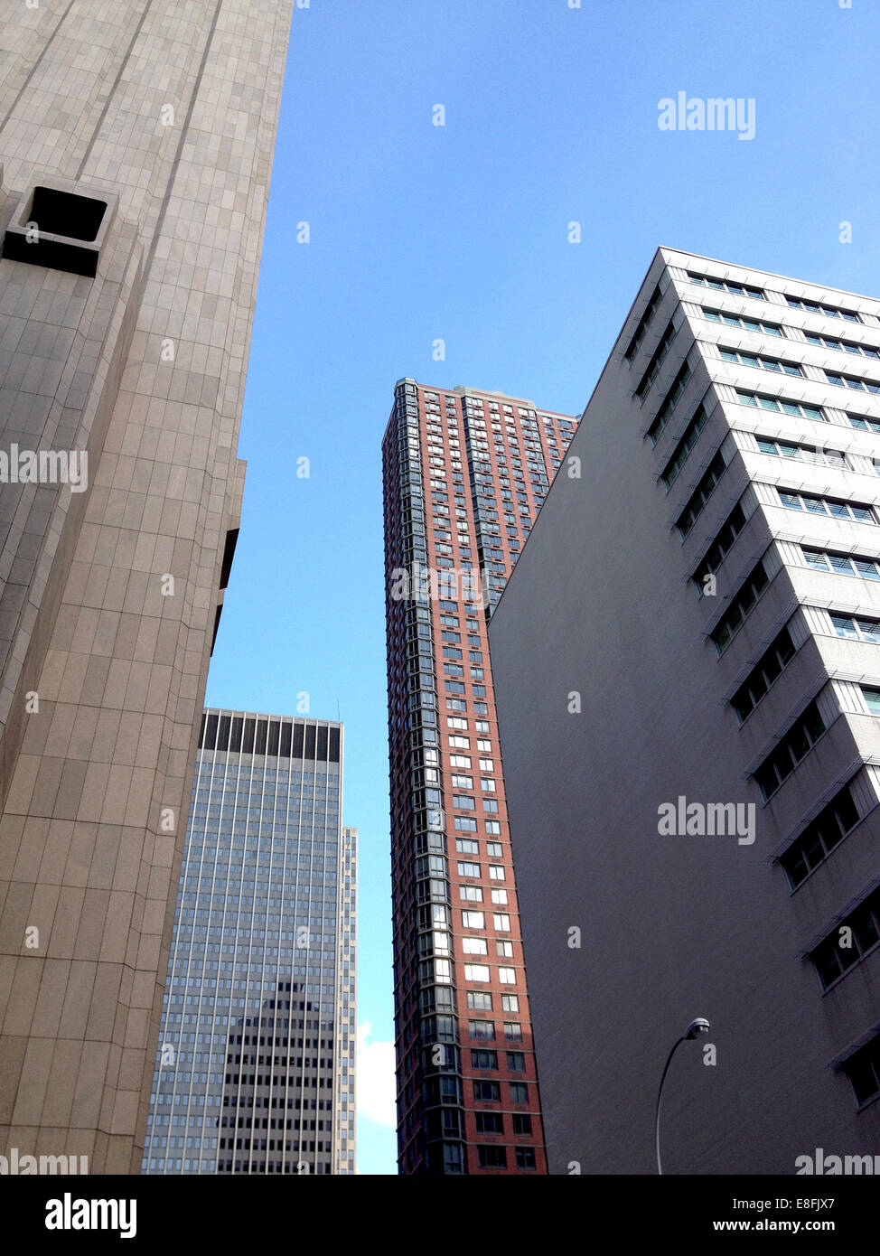 USA, New York State, New York City, City buildings seen from below - Stock Image