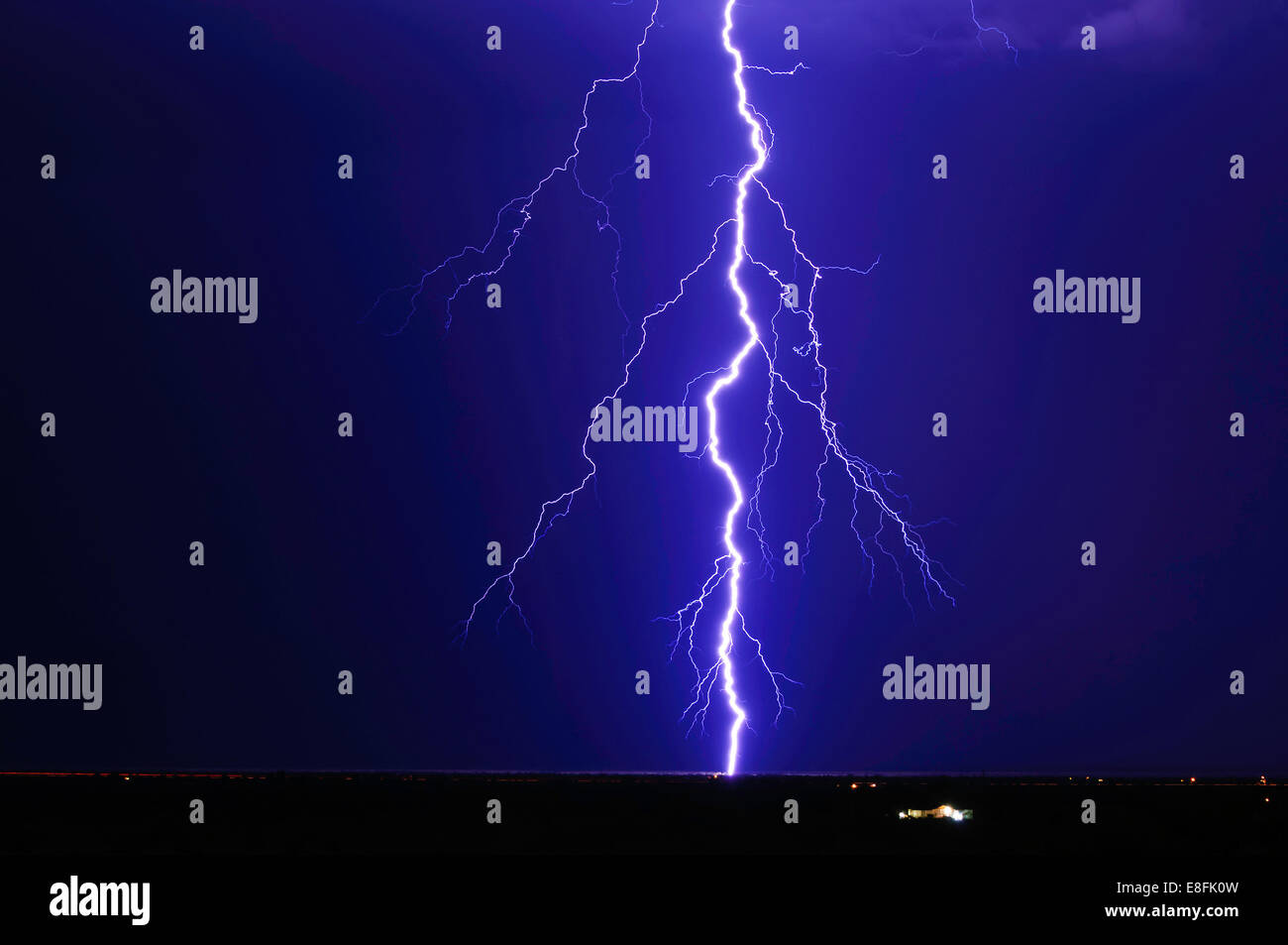 Lightning over Tonopah, Arizona, America, USA - Stock Image