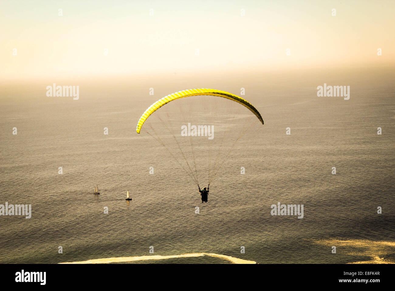 Yellow Parasail - Stock Image
