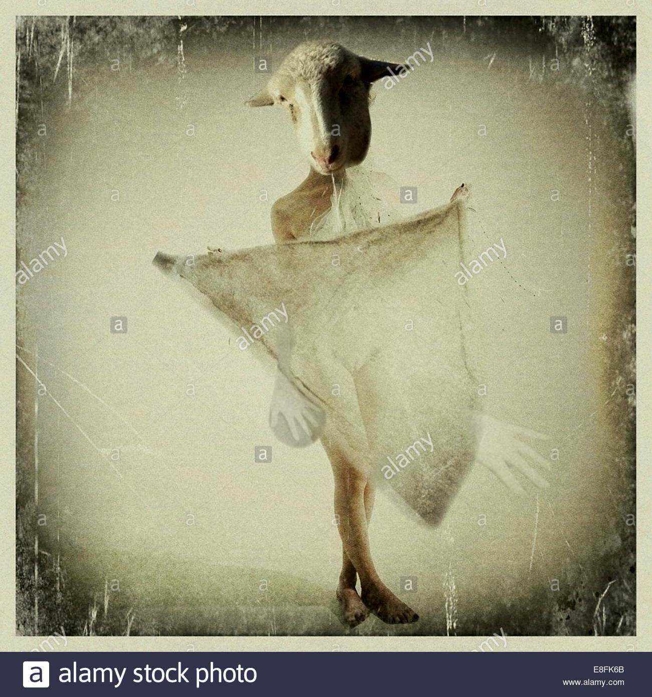 Abstract picture of woman - Stock Image