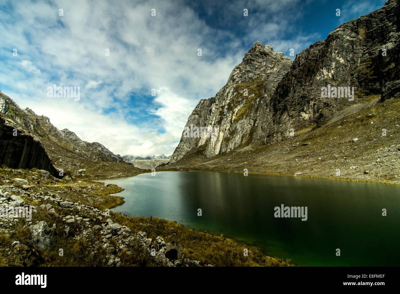Indonesia, Papua, Jayawijaya, Lorents National Conservation Park, View of Meren East Lake - Stock Image