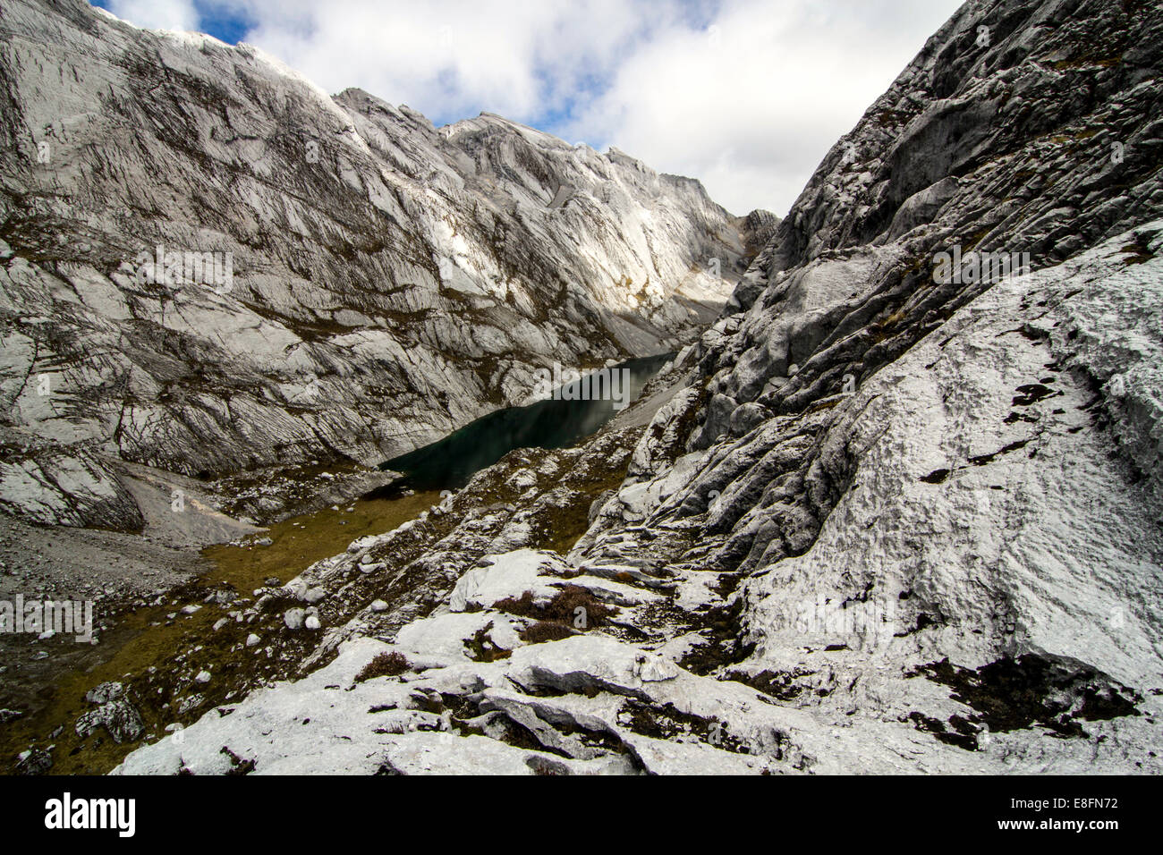 Papua, View of Idenberg valley with Mt. Jayawijaya - Stock Image