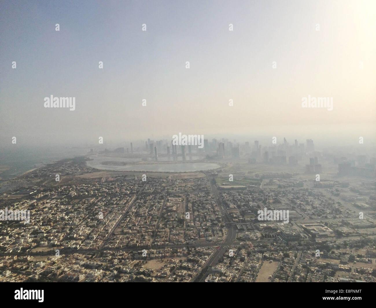 United Arab Emirates, Dubai and surrounding area from above - Stock Image