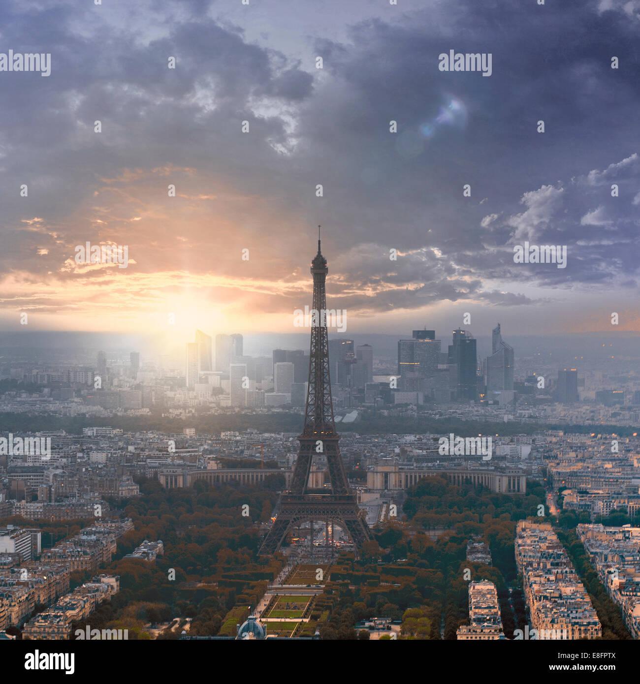 France, Paris, Eiffel Tower - Stock Image