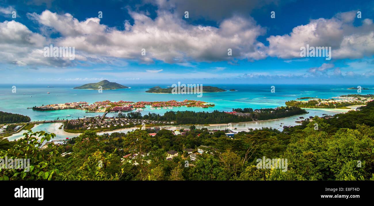 Seychelles, Victoria, Picture of tourist resort - Stock Image