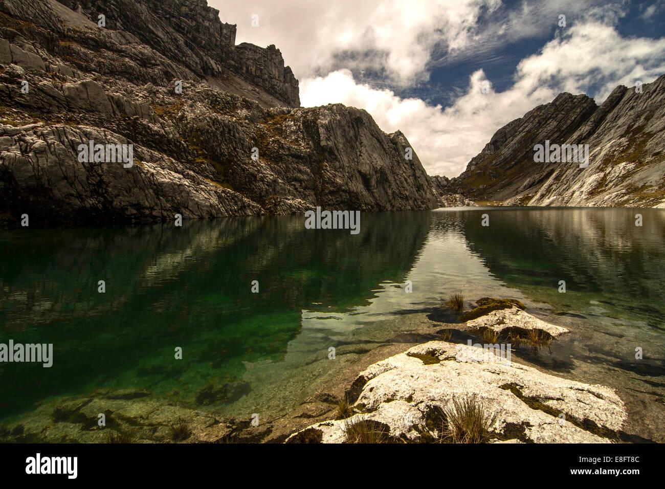 Indonesia, Papua, Idenberg, View of Green Lake - Stock Image