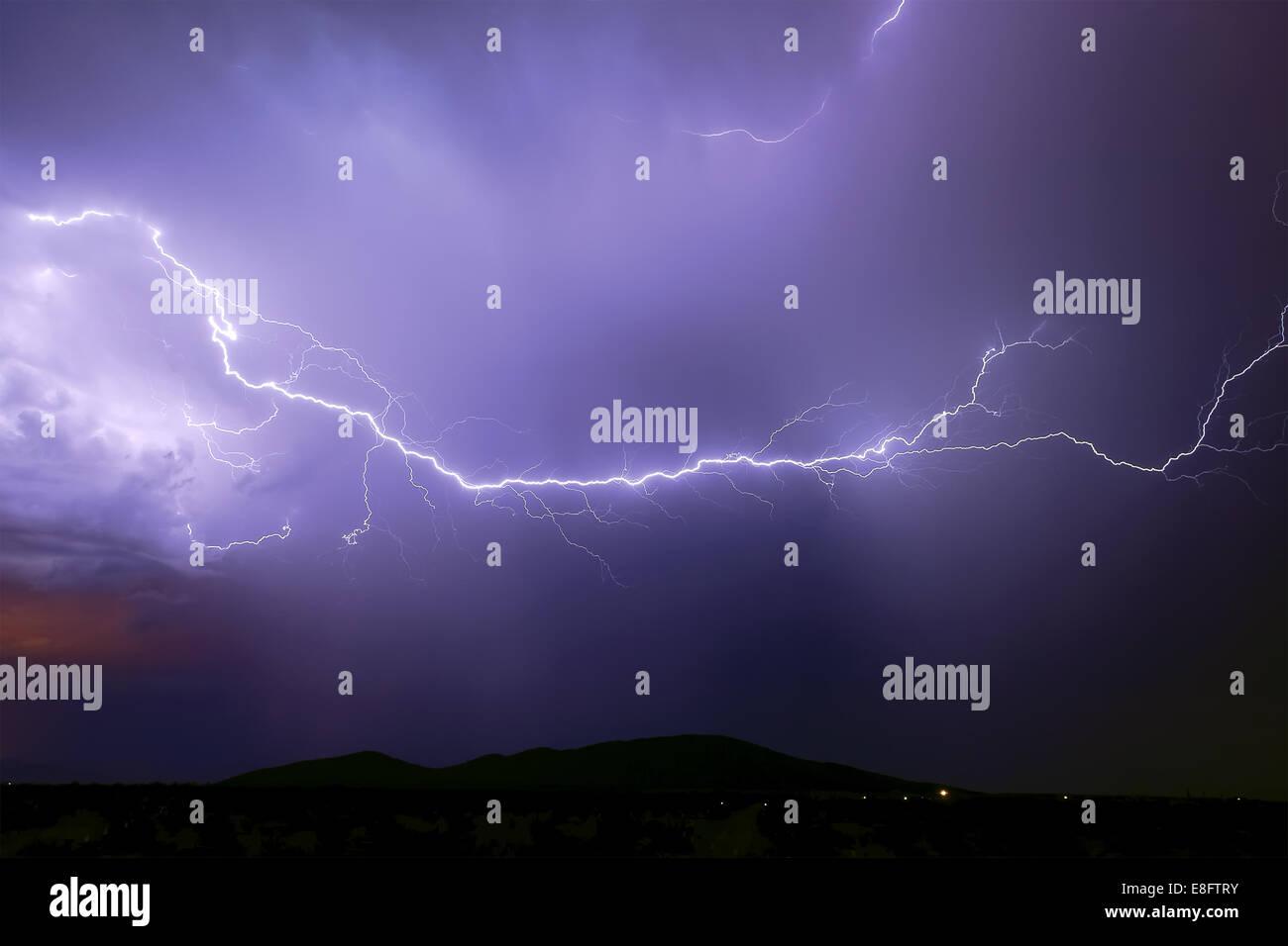 Monsoon storm, Arlington, Arizona, America, USA - Stock Image