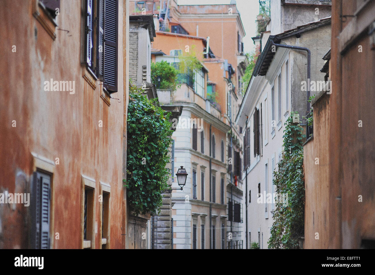 Italy, Rome, Alley in city - Stock Image