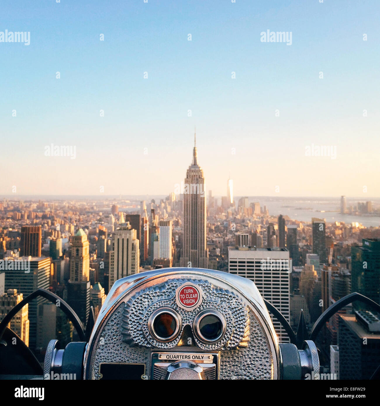 USA, New York State, New York City, View of Empire State Building - Stock Image