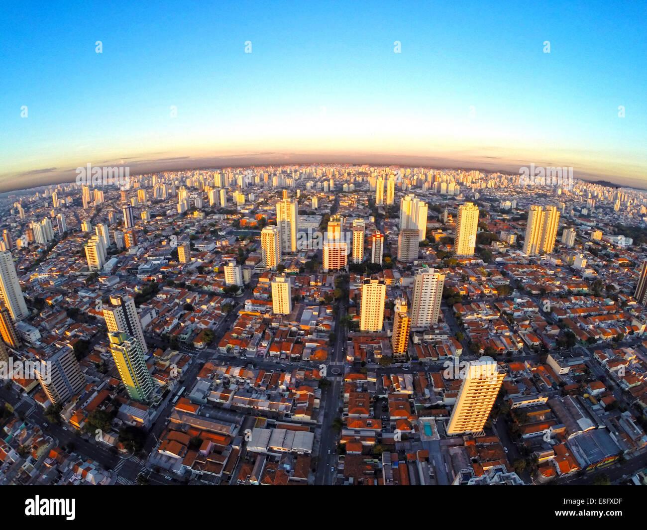 Brazil, Cityscape of south side of Sao Paulo city - Stock Image