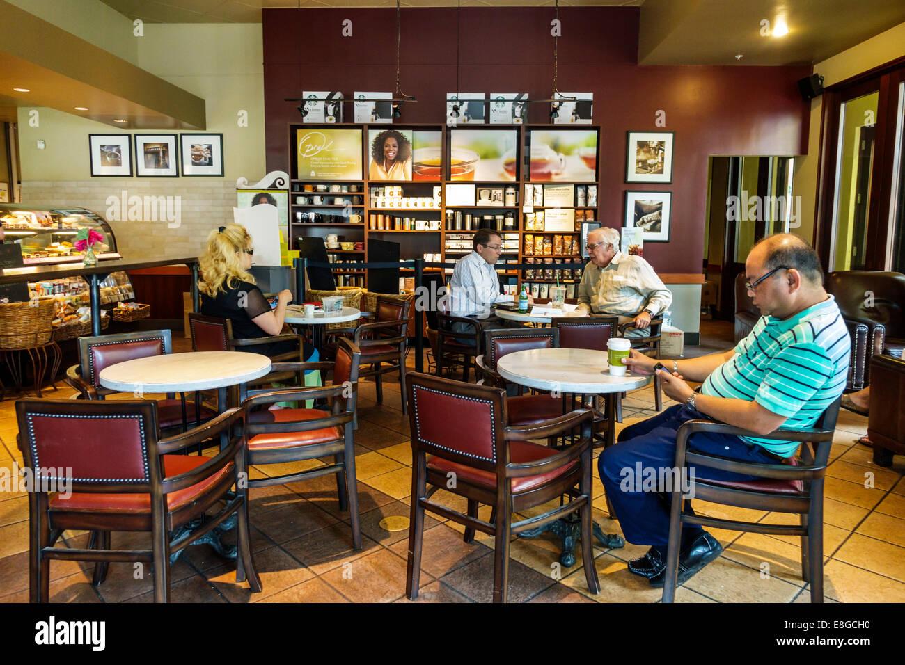 Naples Florida 5th Avenue Starbucks Coffee Cafe Inside Interior