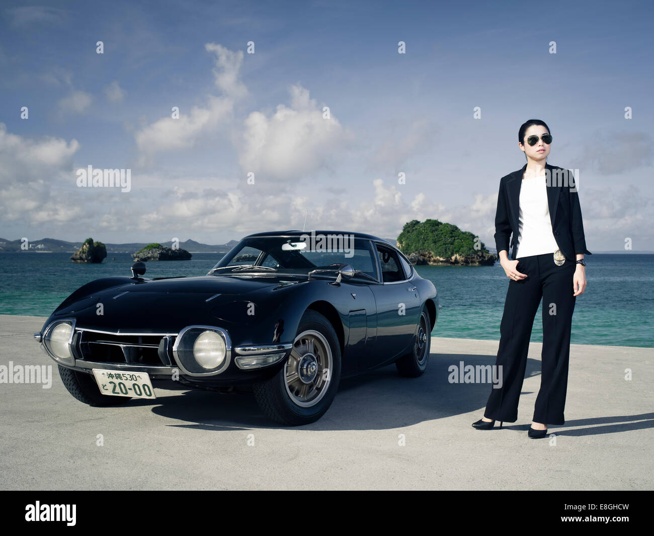 Detective With Lhd Toyota 2000gt Japanese Sports Car In Okinawa