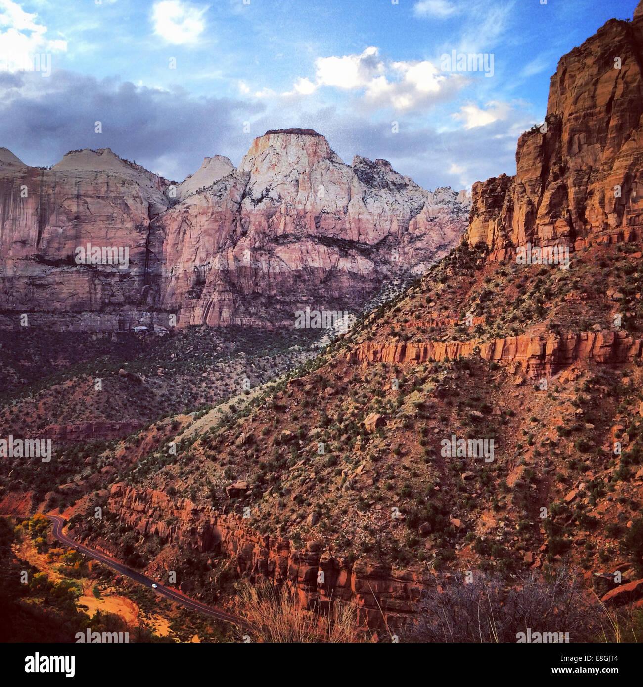Zion National Park, Utah, America, USA - Stock Image