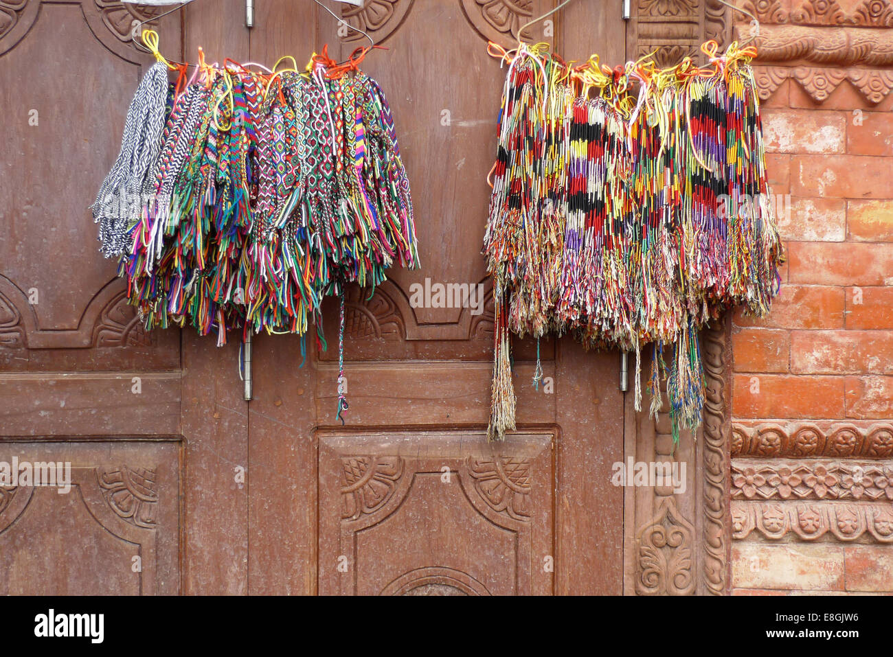 Colorful bracelets - Stock Image