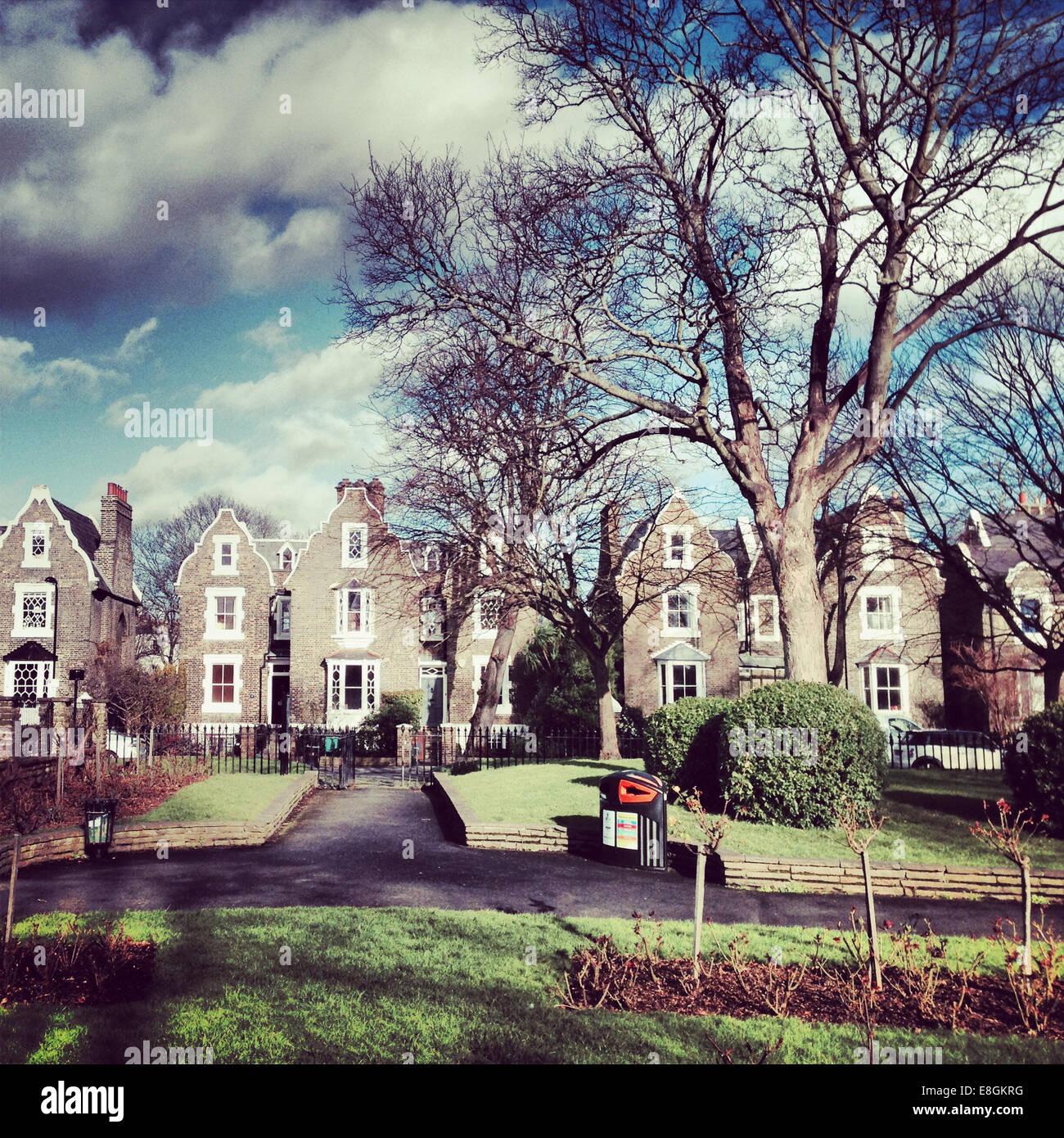 UK, London, Borough of Hackney, De Beauvoir Town and Islington park, Houses - Stock Image