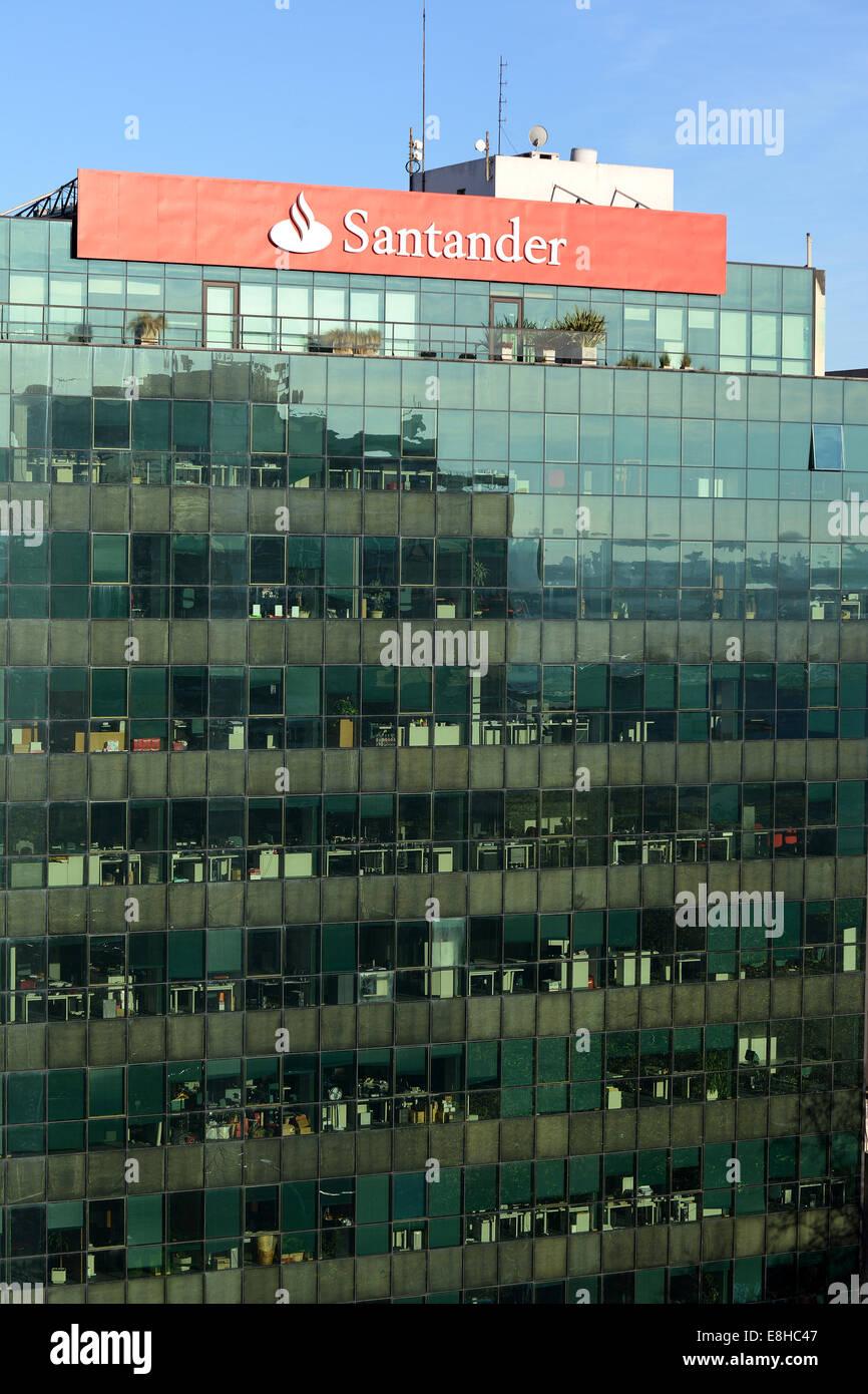 Santander bank Montevideo Uruguay - Stock Image
