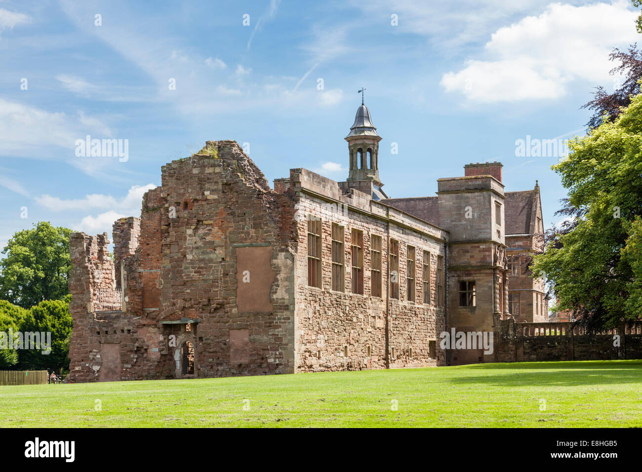 The long gallery of the North Wing of Rufford Abbey, Rufford Country Park, Nottinghamshire, England, UK - Stock Image