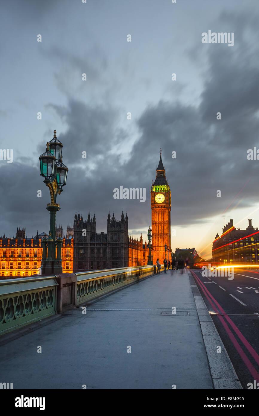 Big Ben at night, London - Stock Image