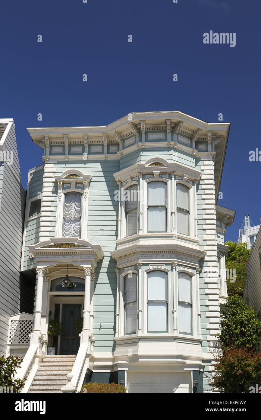 A home in Lower Pacific Heights, San Francisco, California - Stock Image