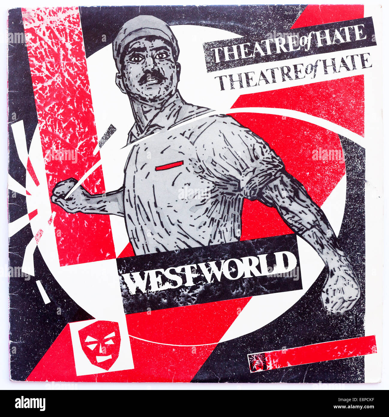 Cover art for Theatre Of Hate - Westworld, 1982 vinyl album on Burning Rome Records - Stock Image