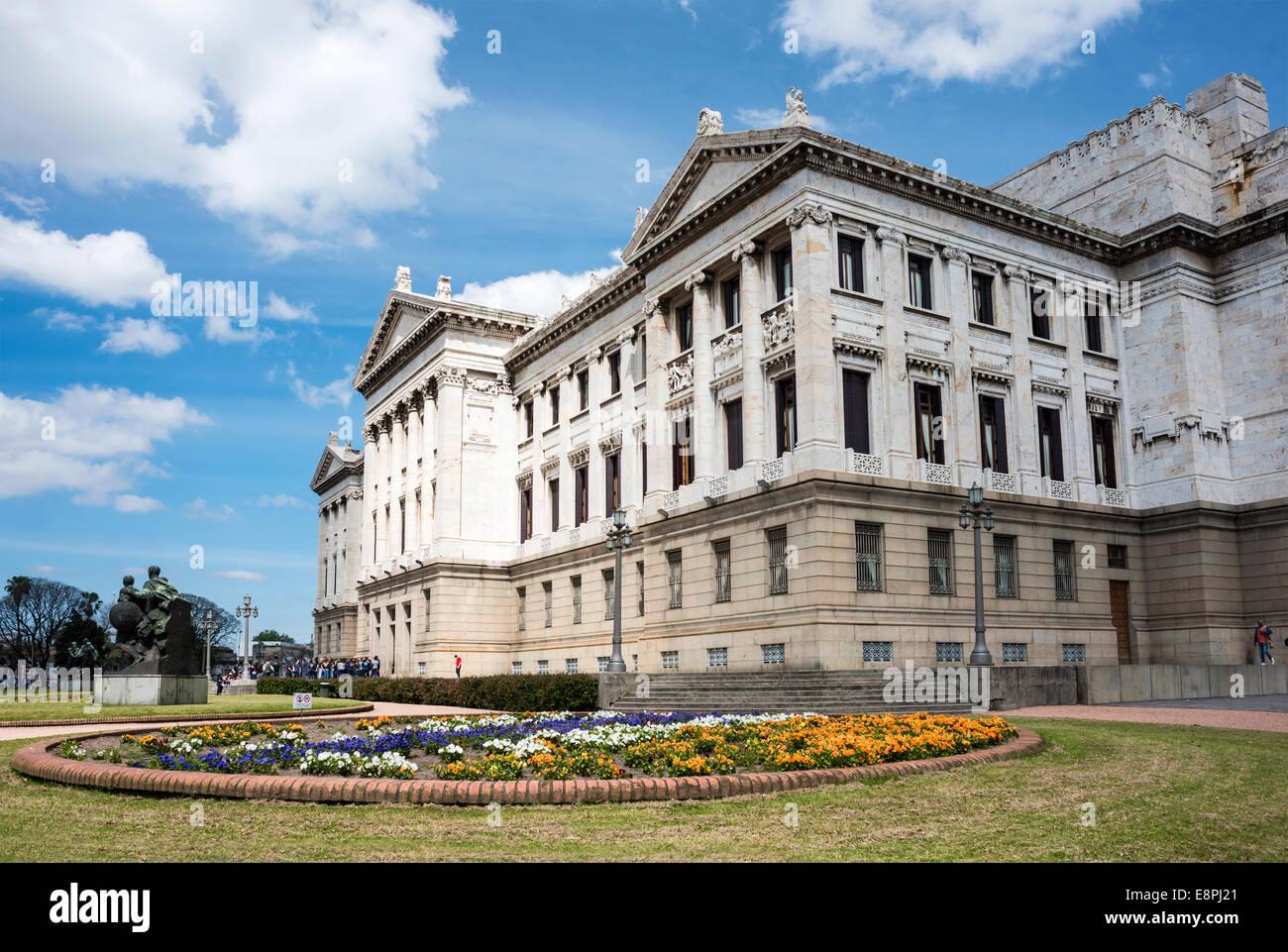 Government Palace Palacio Legislativo in Montevideo, Uruguay - Stock Image